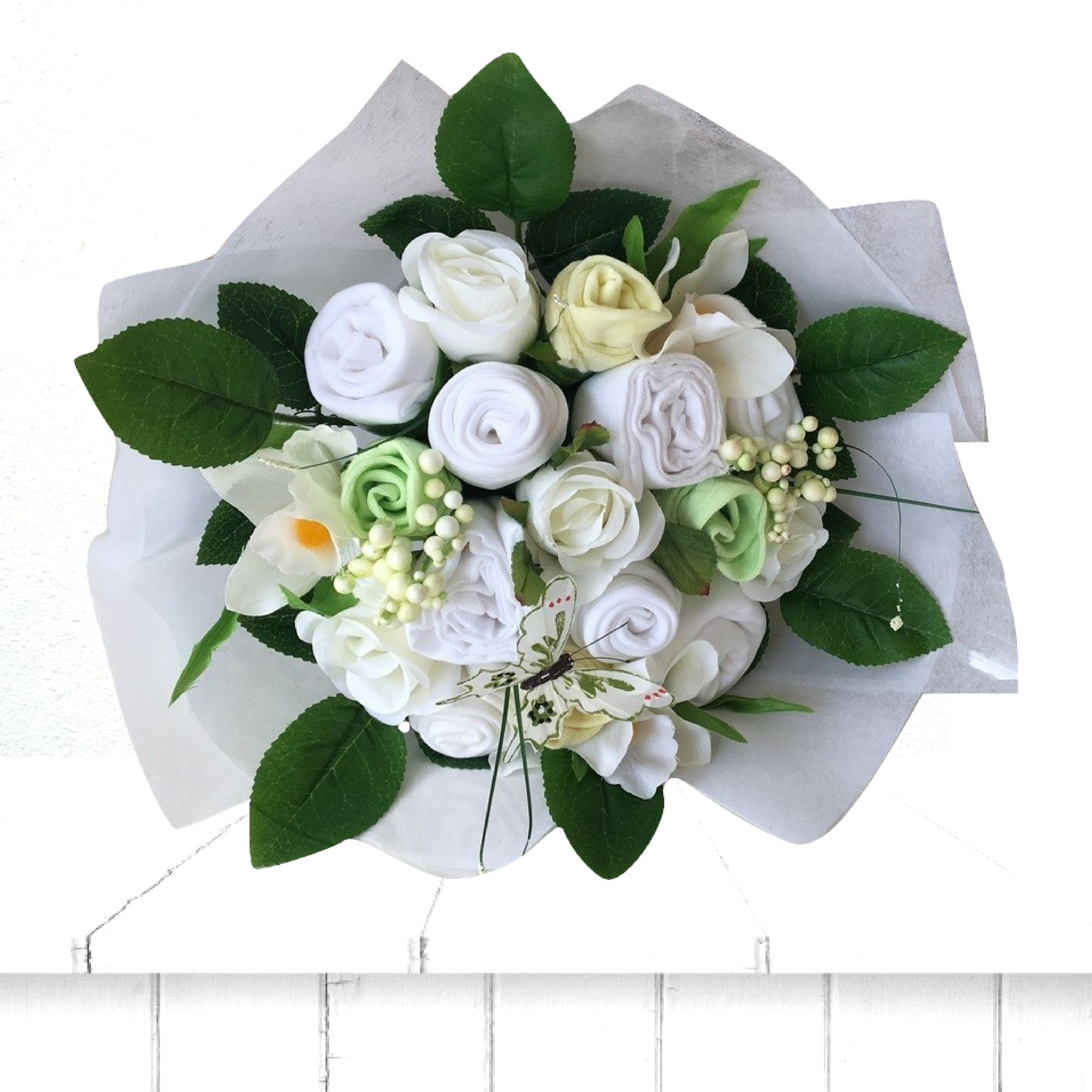 luxury natural spring baby clothes bouquet