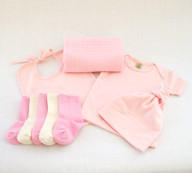 baby love pink organic clothes bouquet